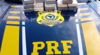 MS: PRF apreende 15,8 Kg de entorpecentes com passageiro de ônibus em Três Lagoas