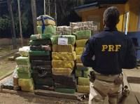 PRF apreende mais de uma tonelada de entorpecentes no interior do Paraná