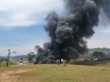 SP: Rodovia Castello Branco é interditada em Itu após caminhão pegar fogo