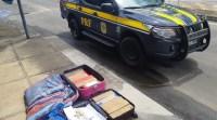 Vídeo: PRF apreende passageira de ônibus com 36 kg de entorpecentes na BR-101 em Camacan