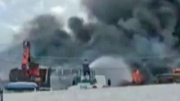 SP: Incêndio em garagem de ônibus destrói três coletivos em Mongaguá