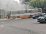 Belém: Ônibus pega fogo nesta manhã de segunda-feira