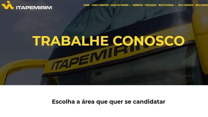 Viação Itapemirim abre vaga para motorista rodoviário através de seu site