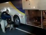 Vídeo: PRF prende dono de empresa de ônibus por tráfico de entorpecentes na BR-020 no DF