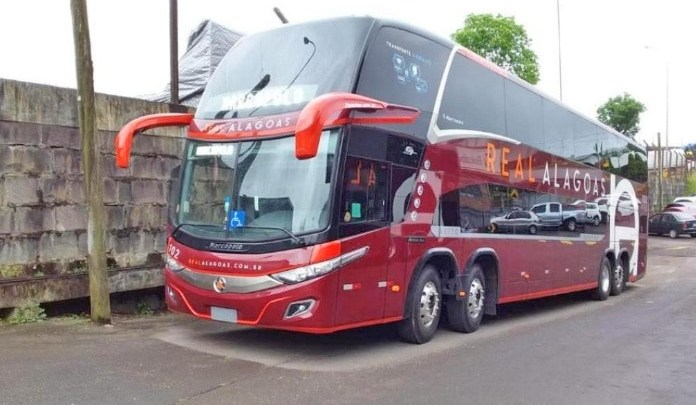 Real Alagoas incorpora novos ônibus DD de 15 metros