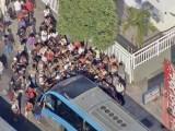 Ônibus do BRT Rio atropela ciclista no corredor Transcarioca, nesta quinta-feira