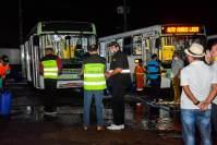 Prefeitura de Manaus fiscaliza garagens de ônibus para verificar limpeza dos coletivos