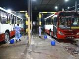 Manaus continua vistorias nas garagens de coletivos como ação de combate à Covid-19