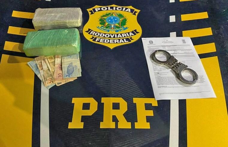 Rondônia: PRF apreende mais de 4 kg de entorpecentes durante fiscalização na na BR-364