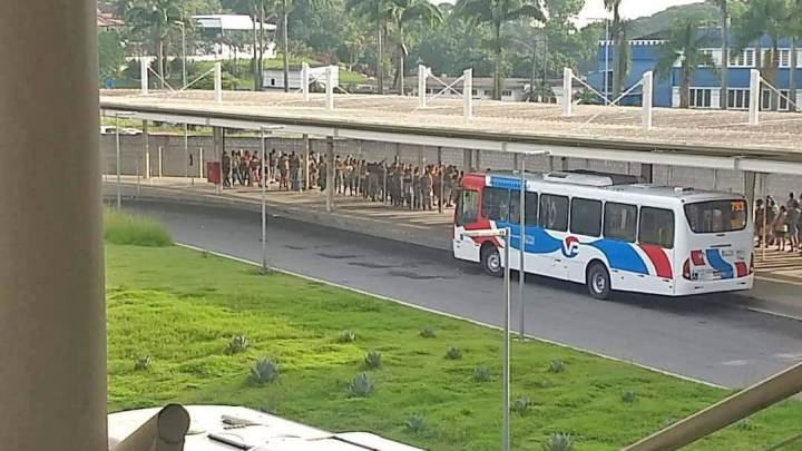 Rio: BRT apresenta filas e aglomerações na Zona Oeste nesta manhã