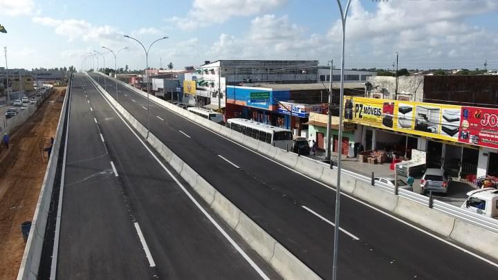 DNIT libera o tráfego de veículos na travessia superior do viaduto do Gancho do Igapó em Natal