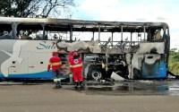GO: Ônibus da Satélite Norte pega fogo na BR-060 em Anápolis nesta terça-feira - Vídeo