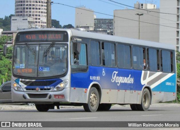 RJ: Motorista abandona ônibus na Alameda São Boaventura em Niterói