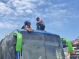 PR: Polícia Civil apreende 470 quilos de entorpecente escondido em teto de ônibus em Foz do Iguaçu