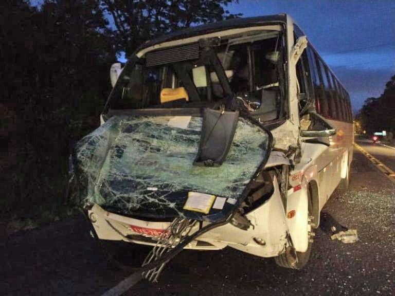 RS: Engavetamento envolvendo micro-ônibus deixa um ferido em Lajeado