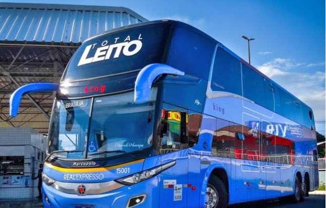 Real Expresso aposta no ônibus Leito Total na linha Brasília x Palmas x Brasília