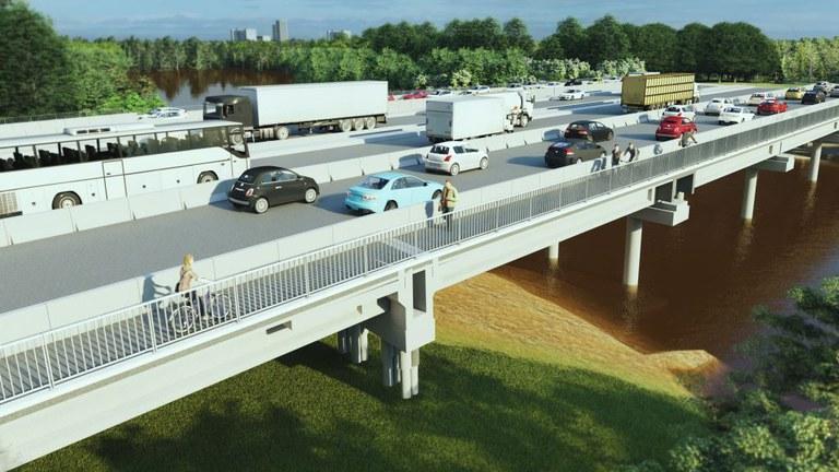 RS: DNIT dá início às obras de implantação das pontes sobre o rio dos Sinos na BR-116
