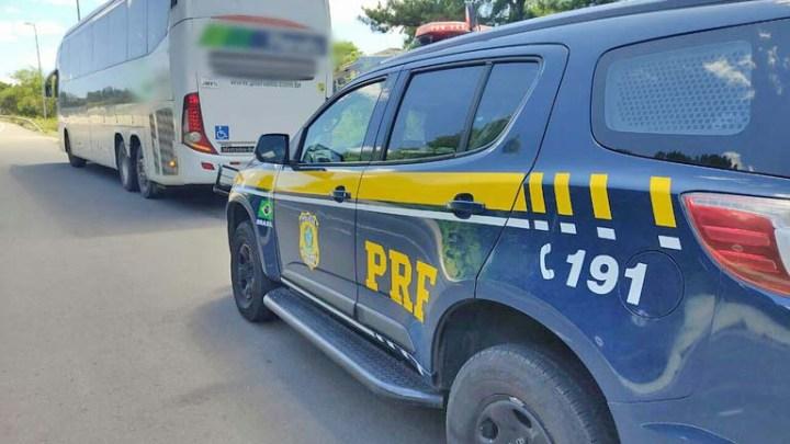 RS: Traficante é presa durante fiscalização da PRF em ônibus na BR-158 em Santa Maria