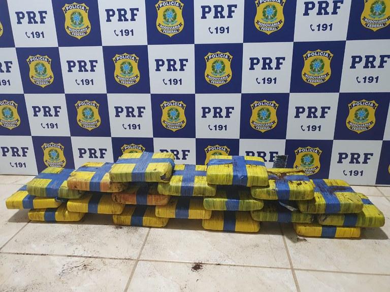 RO: PRF apreende passageira de ônibus com 22kg de skank em Ji-Paraná, na BR-364
