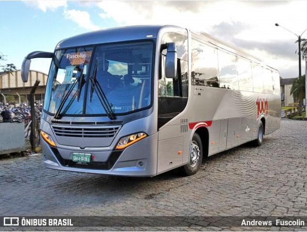 Vídeo: Novo Busscar El Buss 320L da Auto Viação 1001 é visto em Joinville