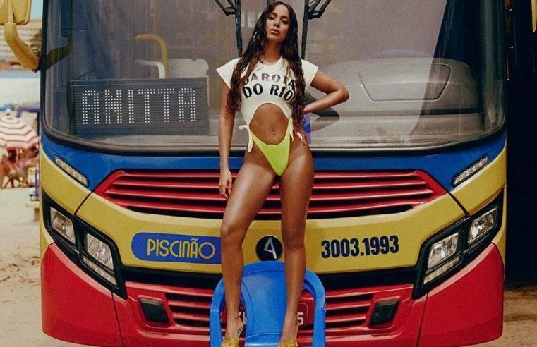 Rio: Campanha de Anitta em ônibus feita para o clipe Girl From Rio, viraliza