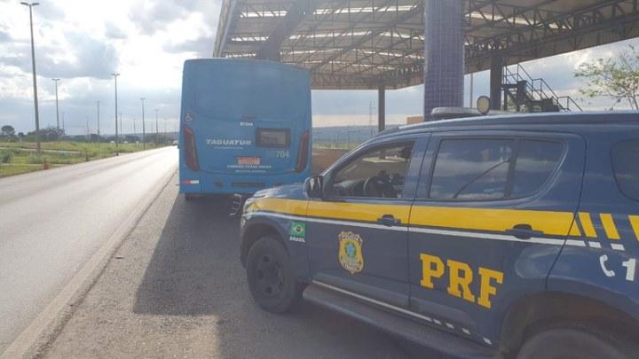 DF: PRF prende homem por importunação sexual em ônibus na Ceilândia