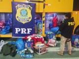 SC: PRF e PM apreendem R$ 200 mil em mercadorias importadas na BR-280 em Rio Negrinho