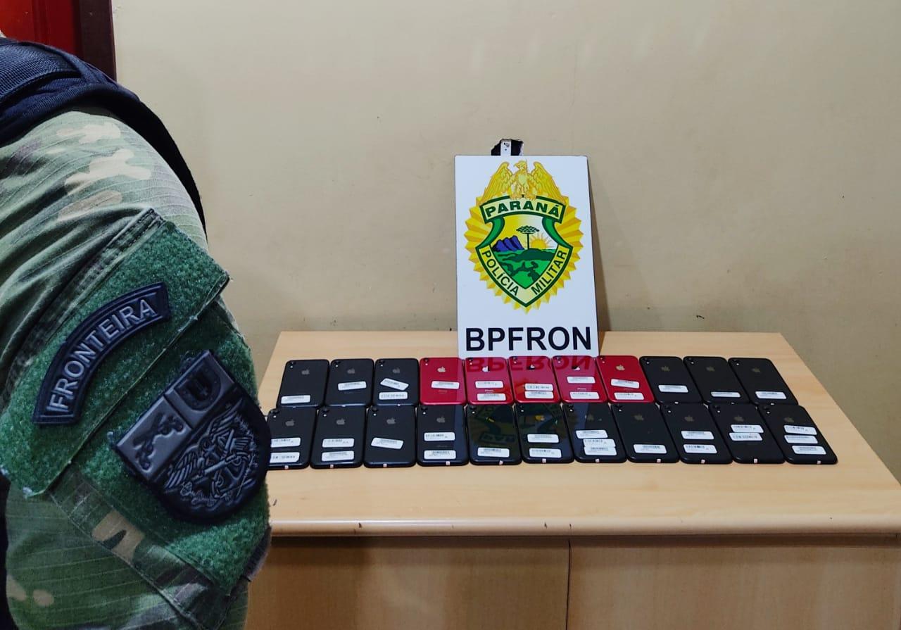 PR: BPFron apreende estimulantes sexuais e celulares com passageiro de ônibus em Cascavel