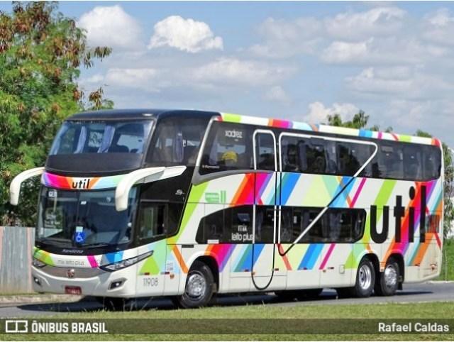 Viação Util inicia a venda de seus ônibus mais confortáveis com 34 poltronas - revistadoonibus