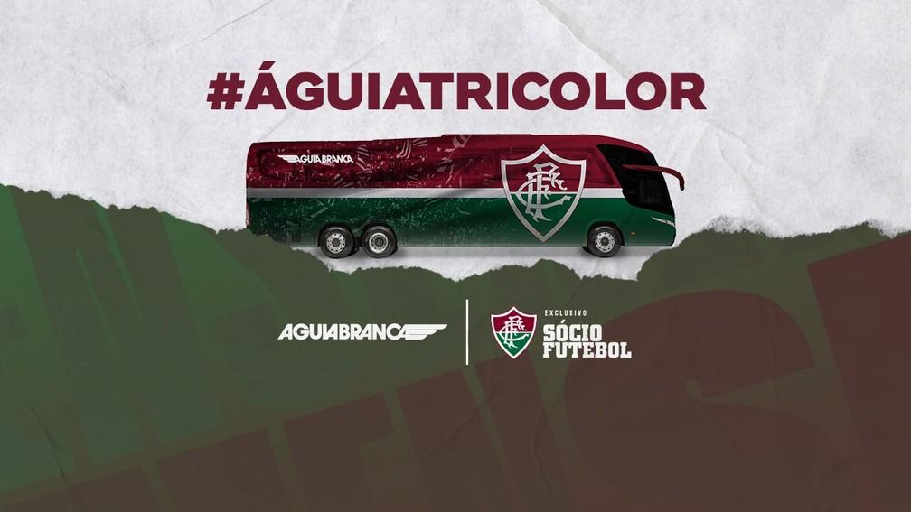 Águia Tricolor tem novo layout do ônibus do Fluminense definido