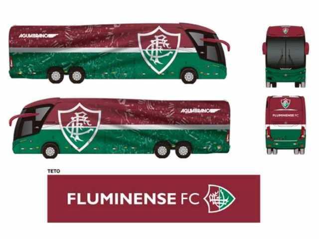 AguiaTricolor tem novo layout do ônibus do Fluminense definido - revistadoonibus