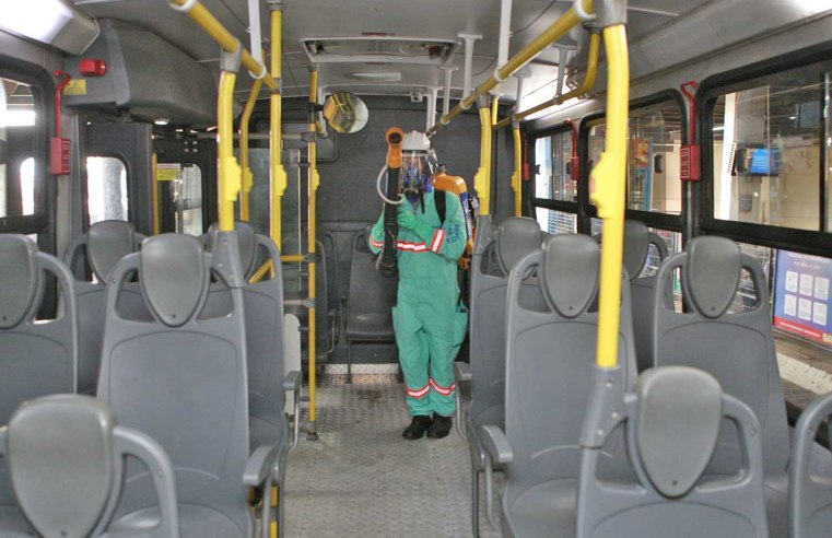 MG: Uberlândia intensifica sanitização nos ônibus municipais