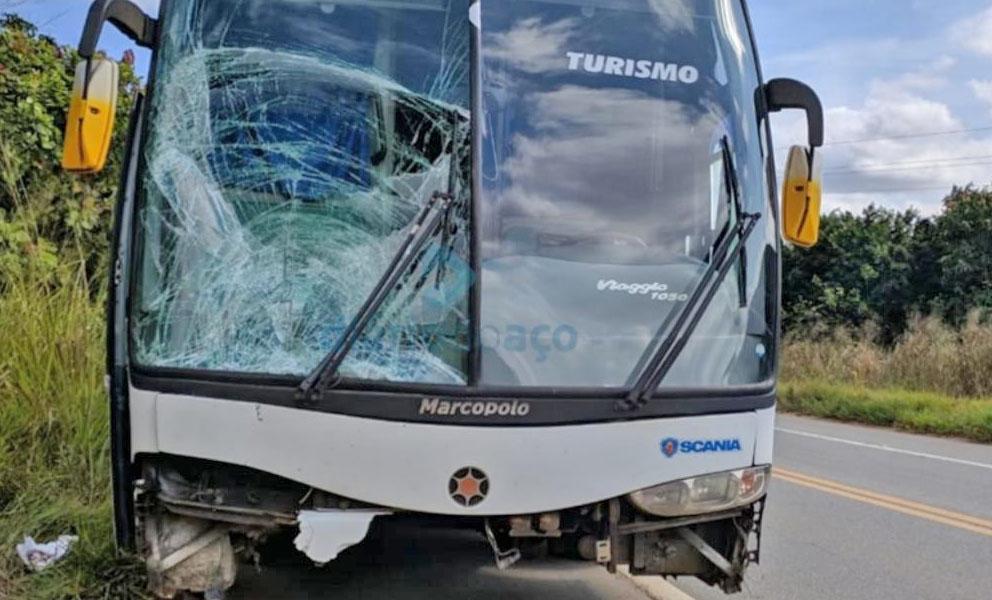 MG: Idoso morre atropelado por ônibus rodoviário na BR-458 em Caratinga