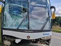 MG: Idoso morre atropelado por ônibus rodoviário na BR-458 em Caratinga - revistadoonibus