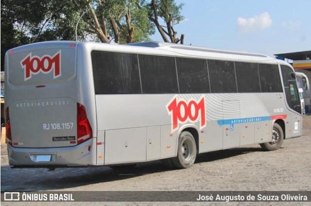 RJ: Auto Viação 1001 começa receber os novos ônibus Busscar El Buss 320 OF-1721 - revistadoonibus