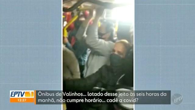 SP: Ônibus da EMTU viaja superlotado entre Campinas e Valinhos - revistadoonibus