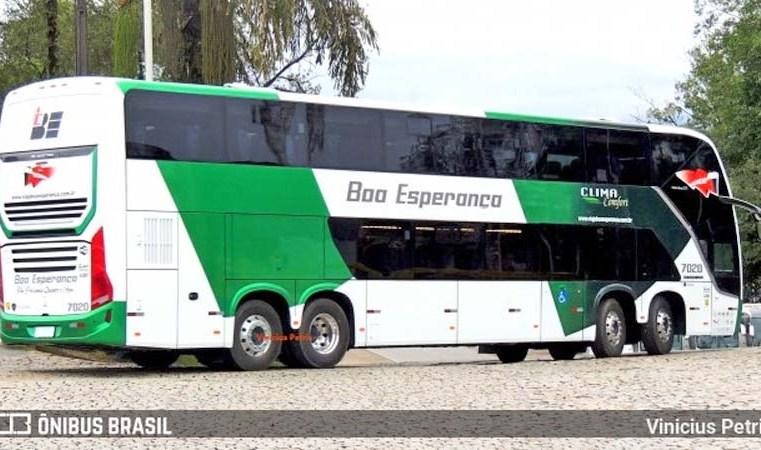 SC: Novos ônibus Busscar Vissta Buss DD da Boa Esperança seguem para Belém