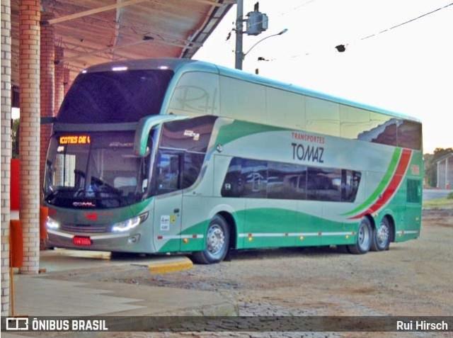 Transportes Tomaz adquire Busscar Vissta Buss DD 8x2 Scania de 15 metros - revistadoonibus