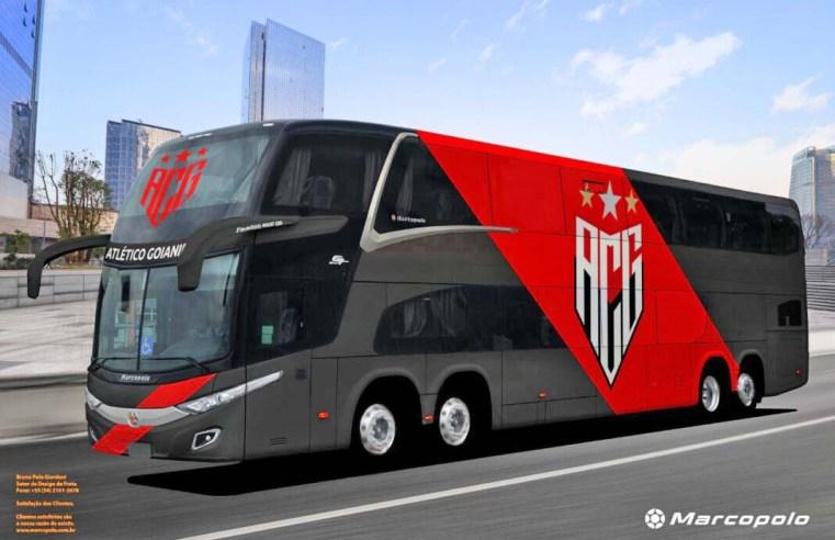 Atlético Goianiense adquire novo ônibus Marcopolo DD 8×2 de 15 metros