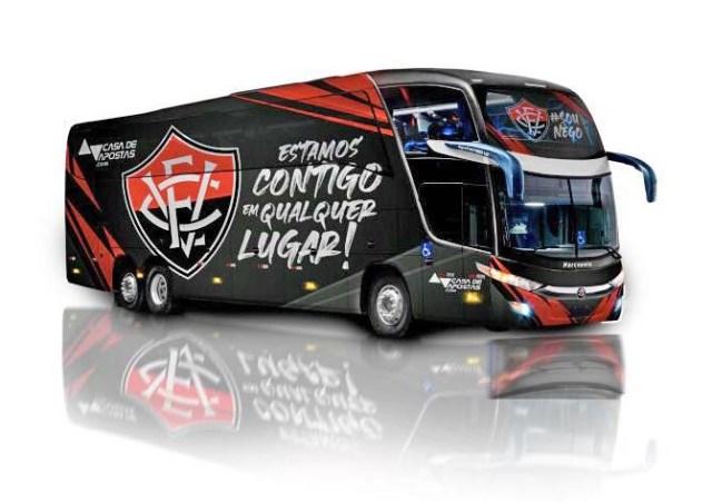 Salvador: Divulgada a nova identidade visual dos ônibus do Bahia e do Vitória - revistadoonibus