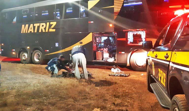 MT: PRF apreende farto material entorpecente em ônibus durante fiscalização na BR-070, em Barra do Garças