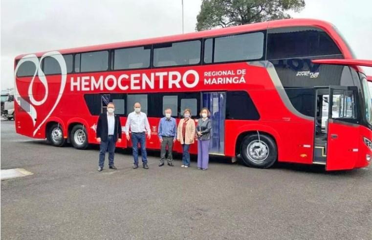 Maringá: Hemocentro recebe moderna unidade móvel para coleta de sangue