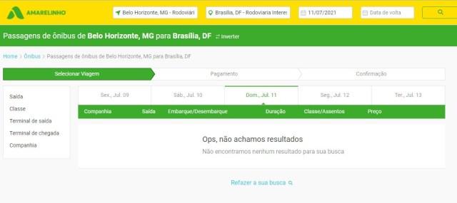 Expresso União lidera venda de passagens no trecho Belo Horizonte x Brasília neste fim de semana Itapemirim Viação Amarelinho - revistadoonibus