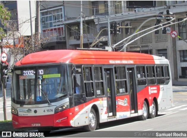 São Paulo informa que ônibus a diesel substituirão trólebus na linha 2290/10 nesta terça-feira