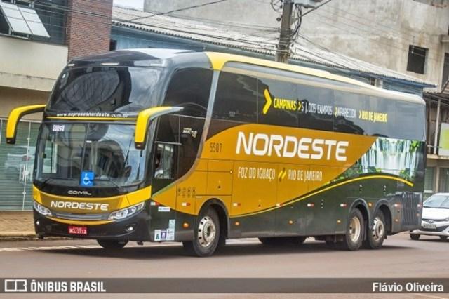 Expresso Nordeste retoma viagem na linha Foz do Iguaçu x Rio - revistadoonibus