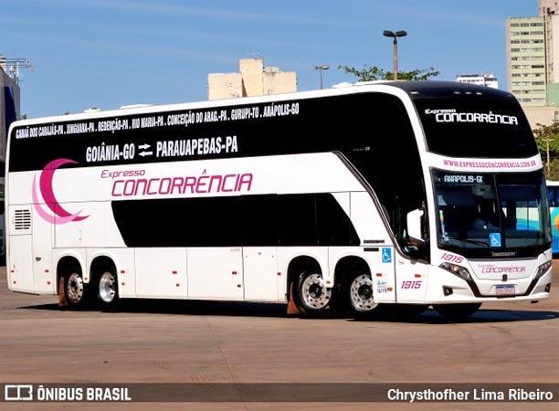 Expresso Concorrência muda prefixo de ônibus Busscar DD que ganhou novo visual