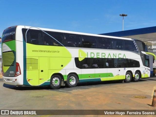 Expresso Concorrência muda prefixo de ônibus Busscar DD que ganhou novo visual - Liderança Turismo - revistadoonibus
