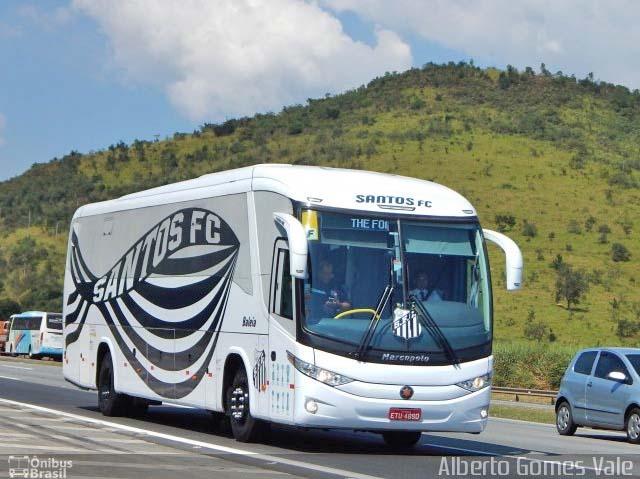 SP: Ônibus do Santos acaba penhorado devido dívida com produtora de vídeo