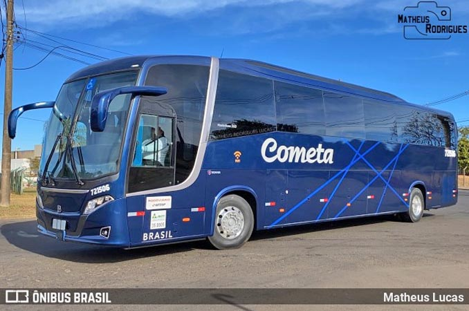 Vídeo: Ônibus Busscar da Viação Cometa é visto deixando a fábrica da Caio em Botucatu