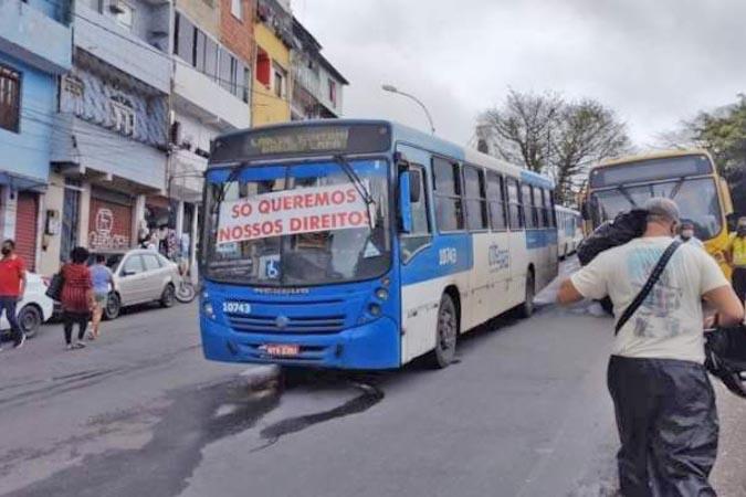 Salvador: Rodoviários realizam manifestação nesta manhã na Estação Lapa